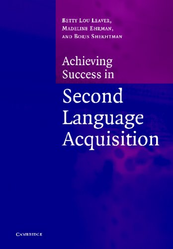 ACHIEVING SUCCESS IN SECOND LANGUAGE ACQUISITION   2004 9780521546638 Front Cover
