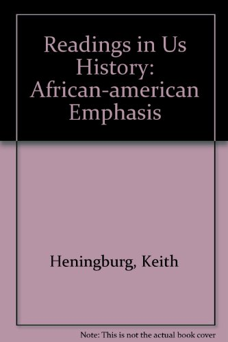 Readings in U. S. History African-American Emphasis Revised  9780757505638 Front Cover