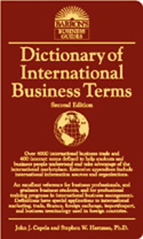 Dictionary of International Business Terms  2nd 2000 9780764112638 Front Cover