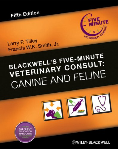 Blackwell's Five-Minute Veterinary Consult Canine and Feline 5th 2011 edition cover