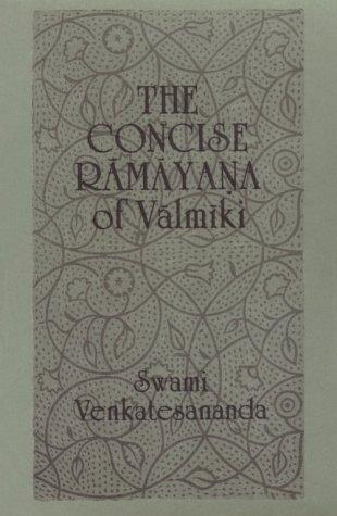 Concise Ramayana of Valmiki   1988 edition cover