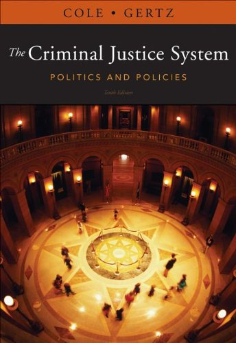 Criminal Justice System Politics and Policies 10th 2013 edition cover