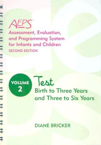 Test for Birth to Three Years and Three to Six Years  2nd 2002 edition cover