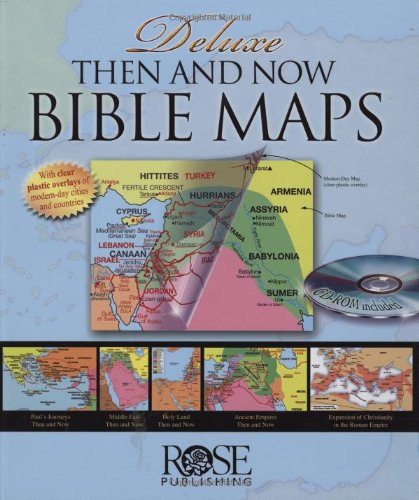 Deluxe Then and Now Bible Map Book with CD-ROM   2017 edition cover