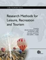 Research Methods for Leisure, Recreation and Tourism   2011 edition cover