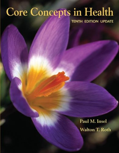 Core Concepts in Health Update  10th 2008 (Revised) edition cover