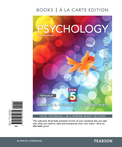 Psychology An Exploration with DSM5 Update, Books a la Carte Edition 2nd 2013 edition cover