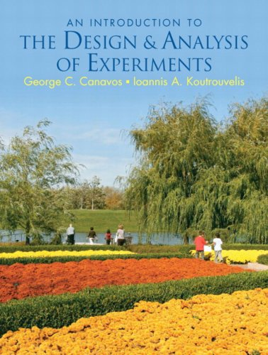 Introduction to the Design and Analysis of Experiments   2009 edition cover