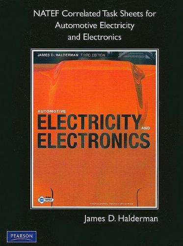 NATEF Correlated Task Sheets for Automotive Electricity and Electronics  3rd 2011 9780137052639 Front Cover