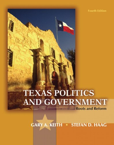 Texas Politics and Government  4th 2012 edition cover