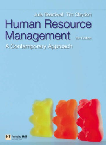 Human Resource Managementa Contemporary  5th 2007 (Revised) 9780273707639 Front Cover