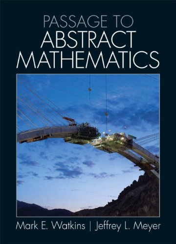 Passage to Abstract Mathematics   2012 edition cover