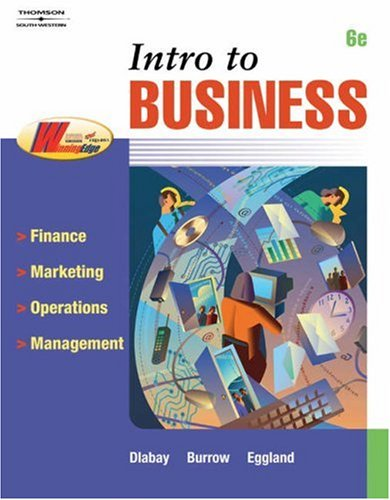 Intro to Business  6th 2006 (Revised) edition cover