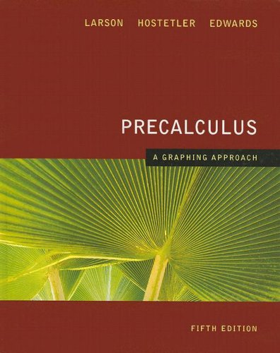 Precalculus A Graphing Approach 5th 2008 edition cover