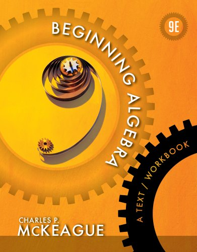 Beginning Algebra A Text/Workbook 9th 2013 edition cover