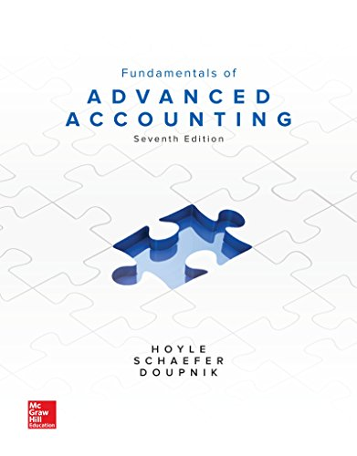 Fundamentals of Advanced Accounting:   2017 9781259722639 Front Cover