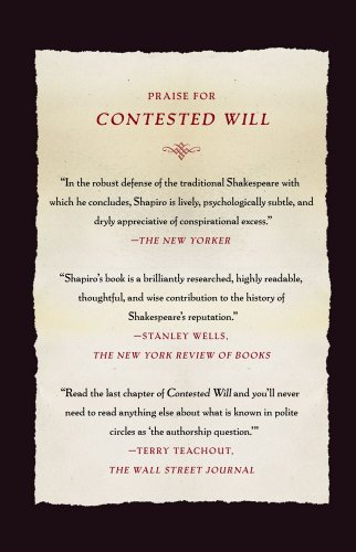 Contested Will Who Wrote Shakespeare? N/A edition cover
