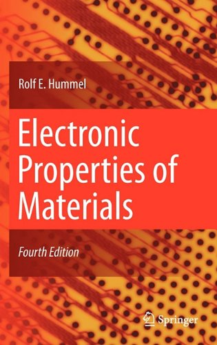 Electronic Properties of Materials  4th 2011 edition cover