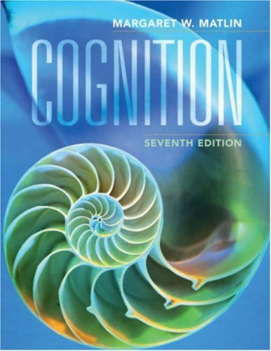 Cognition  7th 2009 edition cover