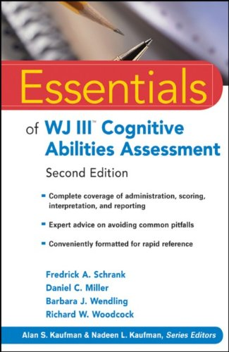 Essentials of WJ III Cognitive Abilities Assessment  2nd 2010 edition cover