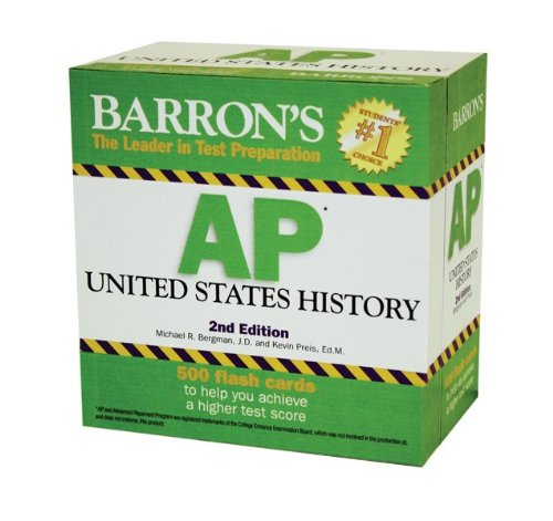 Barron's AP United States History 500 Flash Cards 2nd 2011 (Revised) 9780764162640 Front Cover