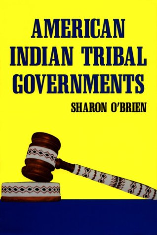 American Indian Tribal Governments  N/A 9780806125640 Front Cover
