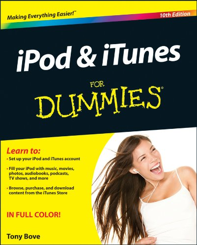 iPod and iTunes for Dummies�  10th 2013 edition cover