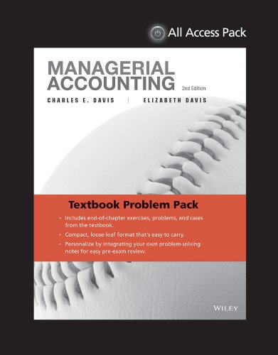 EOC-Only Davis Managerial Accounting  2nd 2014 9781118834640 Front Cover