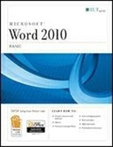 Word 2010 Basic Student Manual, Study Guide, etc.  9781426021640 Front Cover