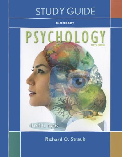 Study Guide to Accompany Psychology  10th (Revised) edition cover