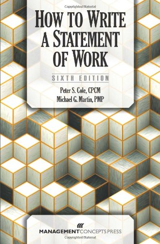 How to Write a Statement of Work  6th 2012 9781567263640 Front Cover