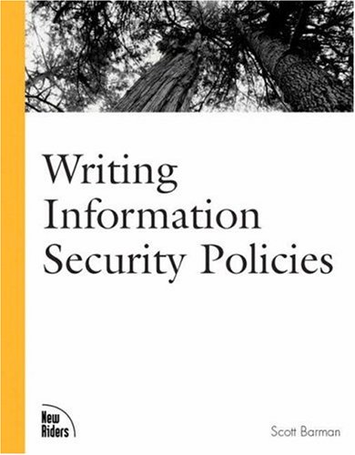Writing Information Security Policies   2002 edition cover