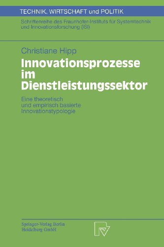 Innovationsprozesse Im Dienglishstleistungssektor   2000 edition cover