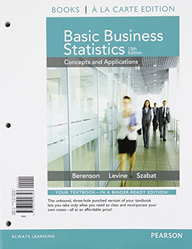 Basic Business Statistics  13th 2015 9780133873641 Front Cover