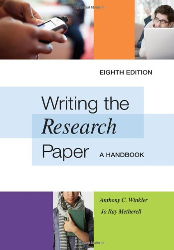 Writing the Research Paper A Handbook 8th 2012 edition cover
