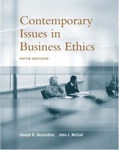 Contemporary Issues in Business Ethics  5th 2005 (Revised) edition cover
