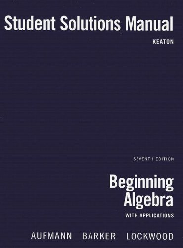Beginning Algebra with Applications  7th 2008 9780618820641 Front Cover