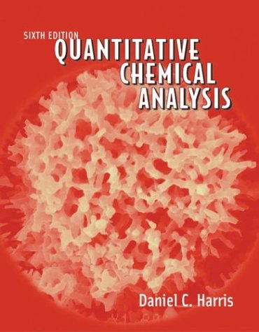 Quantitative Chemical Analysis  6th 2002 edition cover