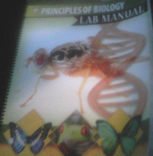 Principles of Biology Lab Manual  2nd 2009 (Revised) 9780757561641 Front Cover