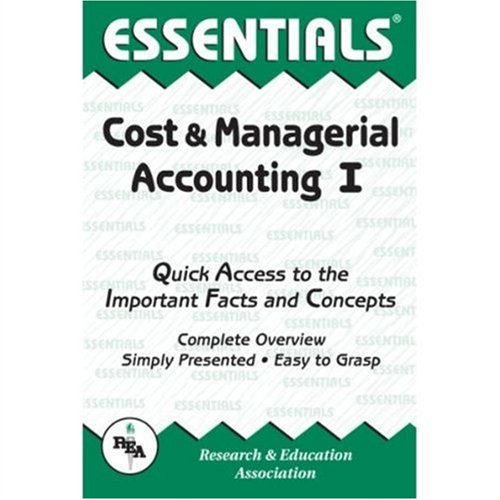 Cost and Managerial Accounting I Essentials  Revised edition cover