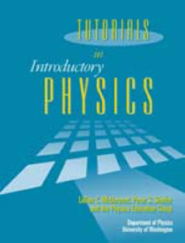 Tutorials in Introductory Physics:  1st 2001 edition cover