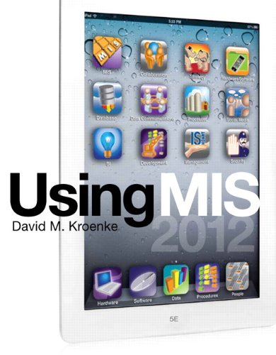Using MIS  5th 2013 (Revised) edition cover