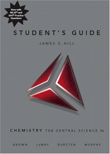 Student's Guide for Chemistry The Central Science 11th 2009 edition cover
