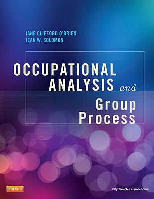 Occupational Analysis and Group Process   2013 edition cover