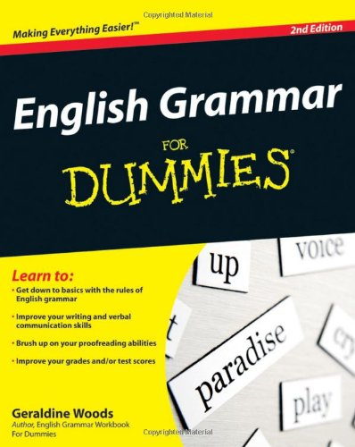 English Grammar for Dummies�  2nd 2010 edition cover
