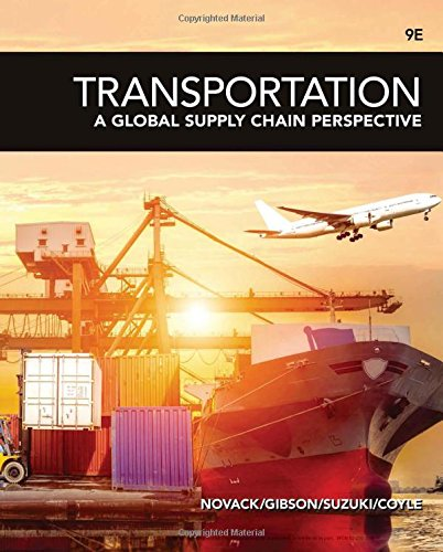 Transportation: A Global Supply Chain Perspective  2018 9781337406642 Front Cover