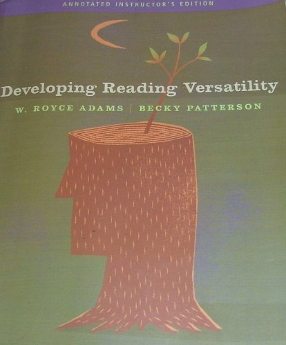 DEVELOPING READING VERSATILITY 10th 2008 9781413029642 Front Cover