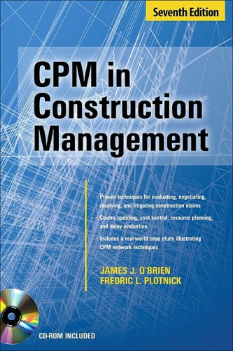 CPM in Construction Management  7th 2010 edition cover