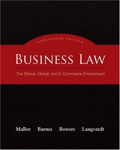 Business Law The Ethical, Global, and E-Commerce Environment 14th 2010 edition cover