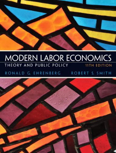 Modern Labor Economics Theory and Public Policy 11th 2012 edition cover